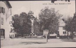 74 - Boege - Place De L'Eglise Et Monument Aux Morts - Boëge