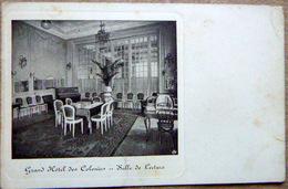 BELGIQUE GRND HOTEL DES COLONIES SALLE DE LECTURE BELLE VIGNETTE AU DOS VOIR SCAN - Cafés, Hôtels, Restaurants