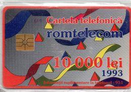 TELECARTE ROUMANIE 1993 10 000 LEI - Roumanie