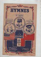 Hymnes De Gaulle Roosevelt Staline Résistance Jakubowitz Hirchin Partitions Musicales - 1939-45