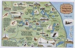 MAP OF THE NORFOLK BROADS - Cartes Géographiques