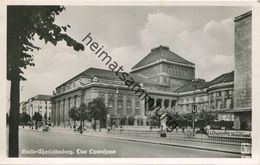 Berlin - Charlottenburg - Das Opernhaus - U-Bahnhof Deutsches Opernhaus - Foto-AK - Gel. 1953 - Charlottenburg