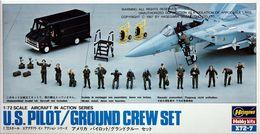 US Pilot / Ground Crew Set 1/72 ( Hasegawa ) - Plastic Models