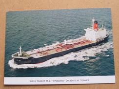 "MS "" ERODONA "" Shell Tanker - Anno 19?? ( Zie/voir Foto Voor Details ) !! - Petroliere"