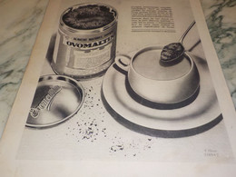 ANCIENNE PUBLICITE LE MATIN ALIMENT NATUREL OVOMALTINE 1932 - Posters