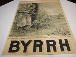 ANCIENNE PUBLICITE APERITIF  BYRRH A LA CHASSE 1939 - Alcools