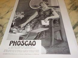 ANCIENNE PUBLICITE DEJEUNER PHOSCAO 1933 - Posters