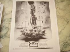 ANCIENNE PUBLICITE TETE A TETE SOURCE PERRIER 1939 - Perrier