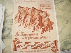 ANCIENNE PUBLICITE LES MOUSQUETAIRES DE LA GOURMANDISE NESTLE - Posters