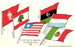 A 7797  -  Drapeaux Des Nations Unies      Laos     Liban      Libéria    Libye      Luxembourg     Mexique - Evénements