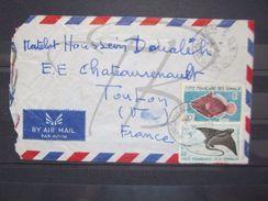 VEND TIMBRES DE LA COTE FRANCAISE DES SOMALIS N° 296 + 299 , SUR LETTRE !!! - Côte Française Des Somalis (1894-1967)