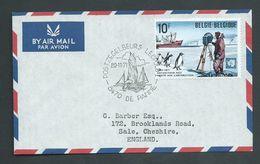Belgium Antarctic 1971 10 Fr Antarctic Treaty On Cover To UK , Postzegelbeurs Leopold Special Cds - FDC