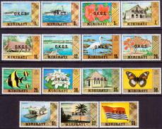KIRIBATI 1981 SG #O11-O25 Compl.set MH Official No Wmk - Kiribati (1979-...)