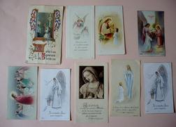 Lot De 9 Images Pieuses - Communion Solennelle Faite En La Cathédrale De SOISSONS ( 02 ) - Années 50 Et 60 - Devotieprenten