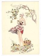 BARRÉ DAYEZ N° 1357 D - FEMME NUE - EROTISME - THE APPLES - Illustrateur E. Maudy - Mujeres