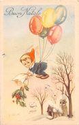 "D6148 ""BUON NATALE - BAMBINO - PALLONCINI - VISCHIO""  CART  SPED. 1951 - Natale"
