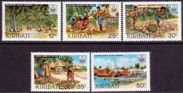 KIRIBATI 1983 SG #205-09 Compl.set MH Copra Industry - Kiribati (1979-...)