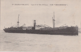 """Bg - Cpa S/S """"MEDJERDA"""" - Ligne De La Côte D'Afrique - Cie Delmas Vieljeux - Commerce"""
