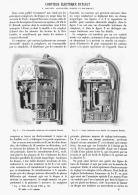 COMPTEUR ELECTRIQUE BATAULT à COURANTS ALTERNATIFS SIMPLES Et POLYPHASES    1903 - Sciences & Technique
