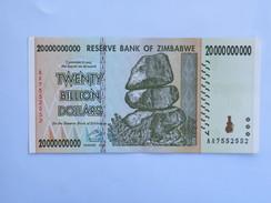 Billet ZIMBABWE De TWENTY BILLION (20 000 000 000) Dollars - Botswana