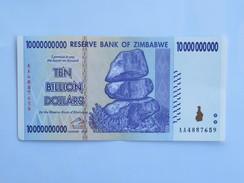Billet ZIMBABWE De TEN BILLION (10 000 000 000) Dollars - Botswana