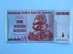 Billet ZIMBABWE De FIVE BILLION (5 000 000 000) Dollars - Botswana
