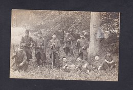 Carte Photo Photographie Nouvelle Compiegne Militaria Groupe Militaires Du 54 54è Regiment D' Infanterie - Compiegne