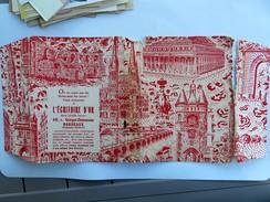 """Couvre Livre, Jacquette De La Libraoirie """" L'ECRITOIRE D'OR"""" , Bordeaux, Cours Georges Clemenceau - Books, Magazines, Comics"""