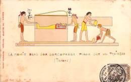 Egypte - La Momie Dans Son Sarcophage, Plage Sur Un Traineau, Thèbes - Egypte