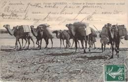 Algérie - Paysages Sahariens - Caravane De Transport Venant De Traverser Un Oued - Algeria