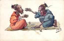 Maroc - Partie De Cartes Autour D'un Thé (caricature) - Autres