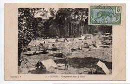 CONGO - CAMPEMENT DANS LA FORET - Congo - Brazzaville