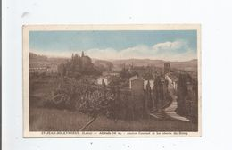 ST JEAN SOLEYMIEUX (LOIRE) ALTITUDE 748 M ANCIEN COUVENT ET LES ABORDS DU BOURG 1937 - Saint Jean Soleymieux