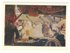 Bazaar. Market. Painting By B. M. Kustodiev. Russian Art. Postcard 1960. Unused. - Markets