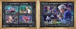 Maldives 2017 Fleming Mushroom Microscope Botany Penicillin Medicine Inventor MS+S/S MLD17701 - Plants