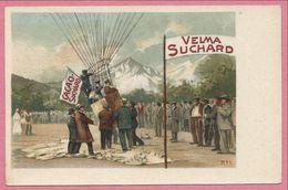 Carte Publicité - CACAO VELMA SUCHARD - Ballon - Carte N°1 - Publicidad