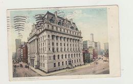 NEW YORK - HALL OF RECORDS VIAGGIATA 1909 VERSO ROMA - NO BOLLO - POSTTCARD - New York City