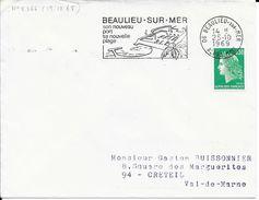 ALPES MARITIME 06 -  BEAULIEU SUR MER   - FLAMME N° 2366  - VOIR DESCRIPTION    1969  BELLE FRAPPE - Postmark Collection (Covers)
