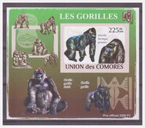 0266 Comores 2009 Aap Gorilla Ape Monkey S/S MNH Imperf - Apen