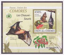 0267 Comores 2009 Vleermuis Bat Chauve-souris S/S MNH - Fledermäuse