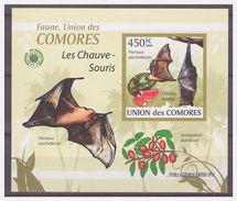 0268 Comores 2009 Vleermuis Bat Chauve-souris S/S MNH Imperf - Vleermuizen