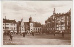 Halle An Der Saale, Marktplatz Old Postcard Unused B170701 - Halle (Saale)