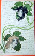 ART NOUVEAU  RAPHAEL KIRCHNER  LUDWAG  RAUHA   CARTE ORIGINALE LITHOGRAPHIEE - Kirchner, Raphael