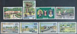 Kenya 1977  Sc#84-7, 94-7 Sets MNH**  2016 Scott Value $3.55 - Kenya (1963-...)