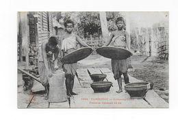 CPA - CAMBODGE - Kompong-Cham, Femmes Vannant Du Riz - Cambodge