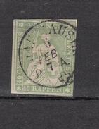 1855  N° 26C  OBLITERE   CATALOGUE ZUMSTEIN  VENDU A 15% DU PRIX CATALOGUE - 1854-1862 Helvetia (Ungezähnt)