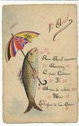 Poisson Avril Humain Patriotique Parapluie Drapeaux Alliés Russie Italie Serbie Belgique Handmade - 1° Aprile (pesce Di Aprile)