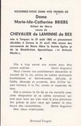 TONGRES GOTEM Marie-Ide BRIERS Veuve De LAMINE De BEX 1882-1966 Doodsprentje DP Adel - Décès