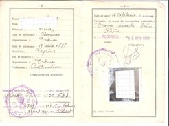 CARTE DE CIRCULATION TEMPORAIRE.....1939.....FRANCE...ROMANS....DROME - Transportation Tickets