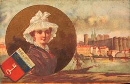 BELLE CHROMO DOREE - Coiffe Et Blason D'Angers MAINE Et LOIRE - TBE - Old Paper